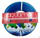Aquamar Süper Silikonlu Şeffaf Hortum 1/2 25 mt Mavi
