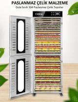 Dalle Dijital, Paslanmaz Gıda ve Meyve Kurutma Makinesi 32 Tepsili