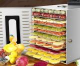 Paslanmaz Meyve-Sebze Kurutma Fırını Dijital 12 Tepsili