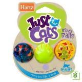 Hartz Parlak Kedi Oyuncağı Sesli Top 3 Lü