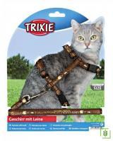 Trixie kedi göğüs tasma ve gezdirme seti Kahverengi 25-44cm/10mm
