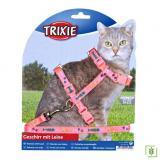 Trixie kedi göğüs tasması seti Pembe 22-36cm/10mm