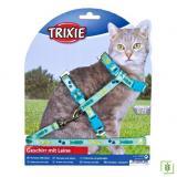Trixie kedi göğüs tasması seti Yeşil 22-36cm/10mm