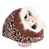 Zürafa Desen Kedi Peluş Yatak 35×26×41cm Pembe